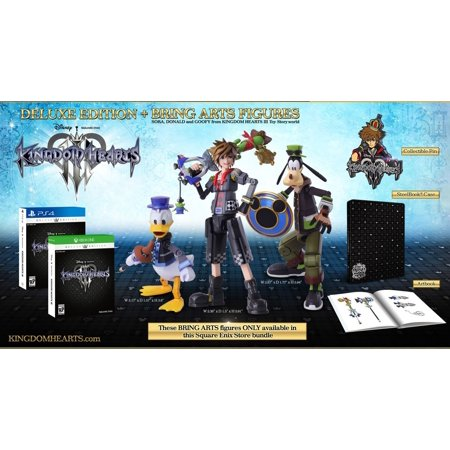 Kingdom Hearts III 3 Deluxe Edition + Bring Arts Figures (Console Not Included) [PlayStation 4] Arts Kingdom Hearts