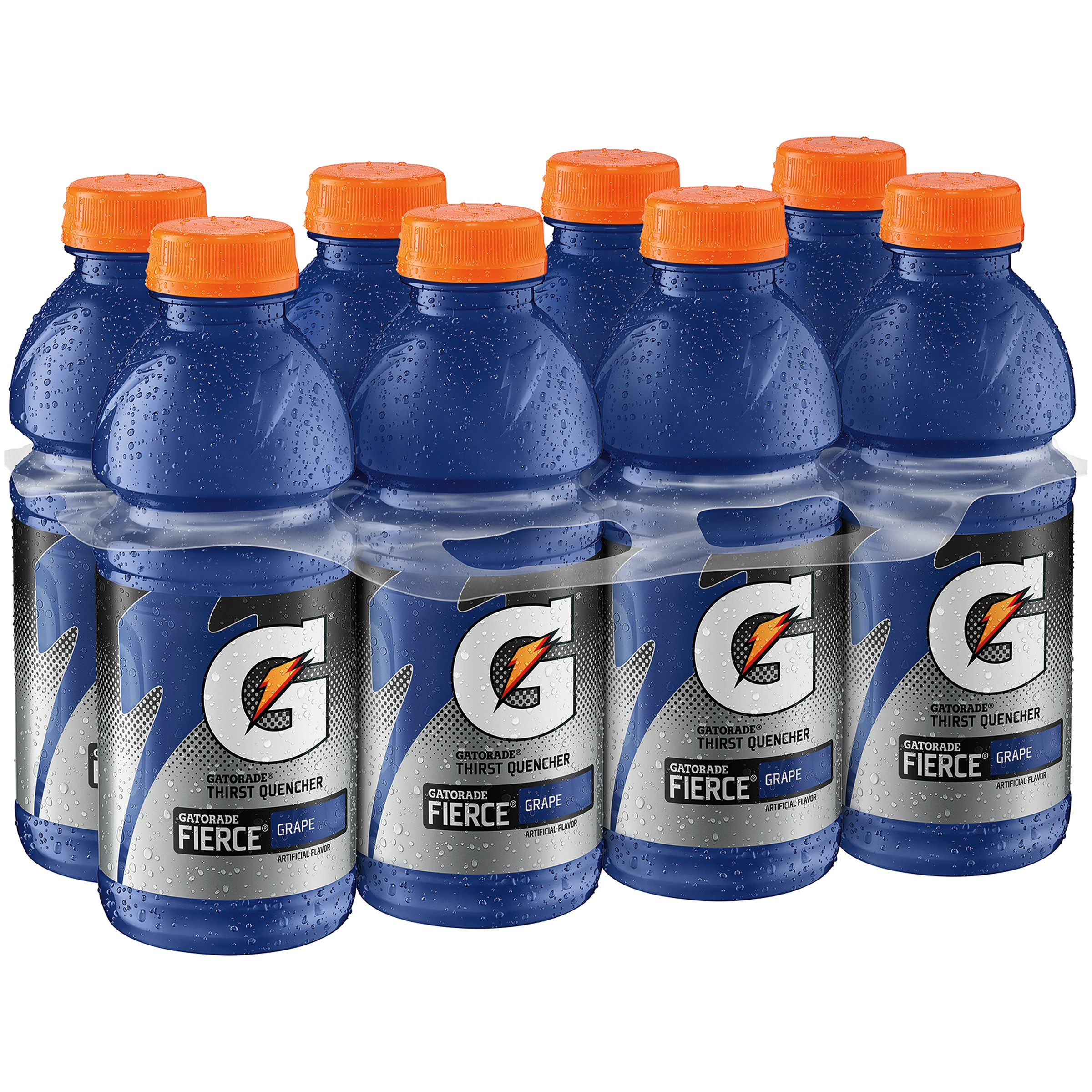 Gatorade Thirst Quencher Fierce Sports Drink, Grape, 20 Fl Oz, 8 Count