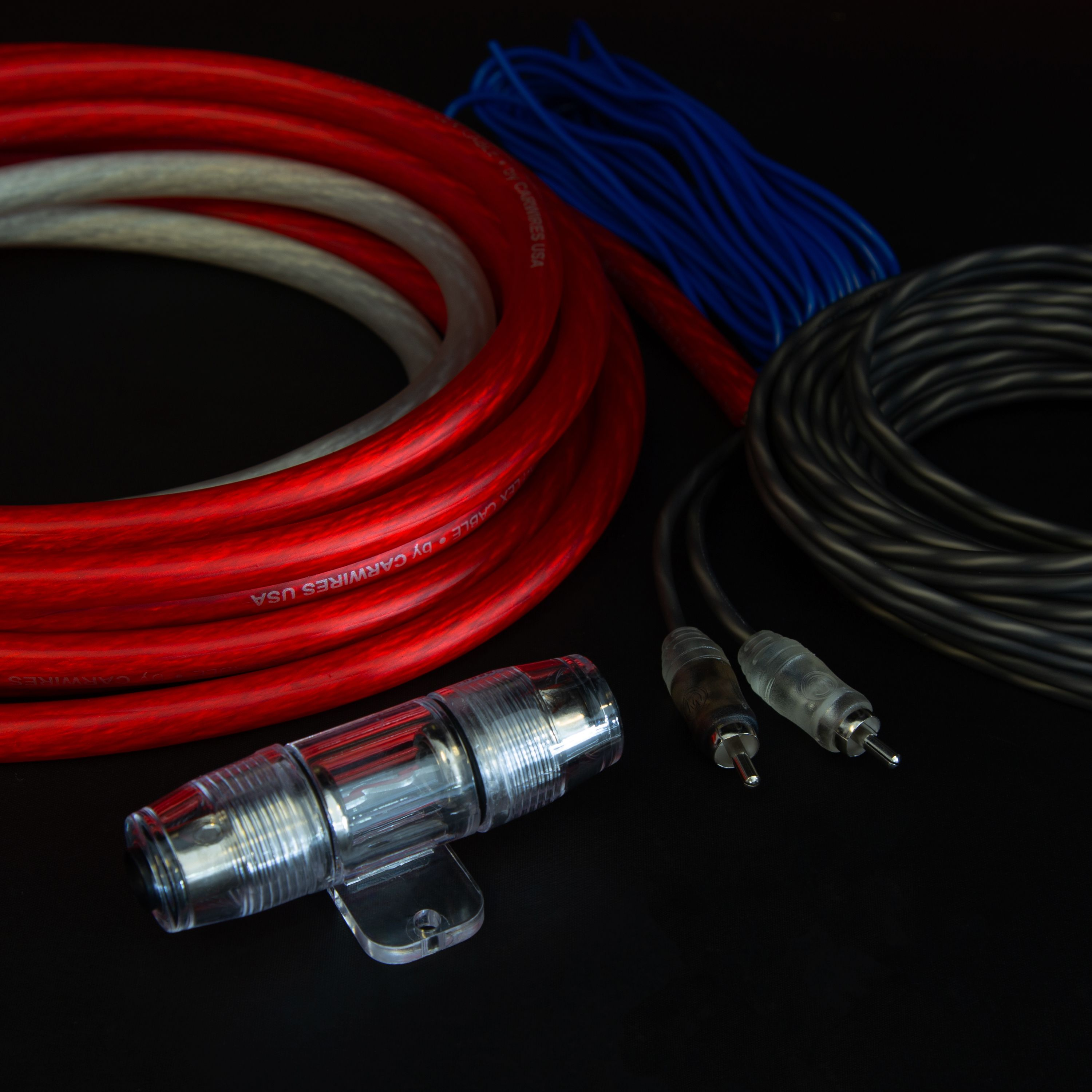 AMP WIRING KIT W//RCA CABLES FAST SHIPPING QPOWER 4GAUGE USA LINK *USA LINK* 4G