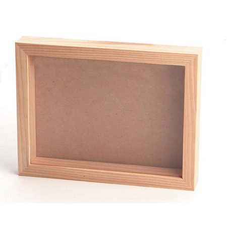 - Pine Wood Collection Shadow Box with Clear Acrylic Front - 8 x 11 inches