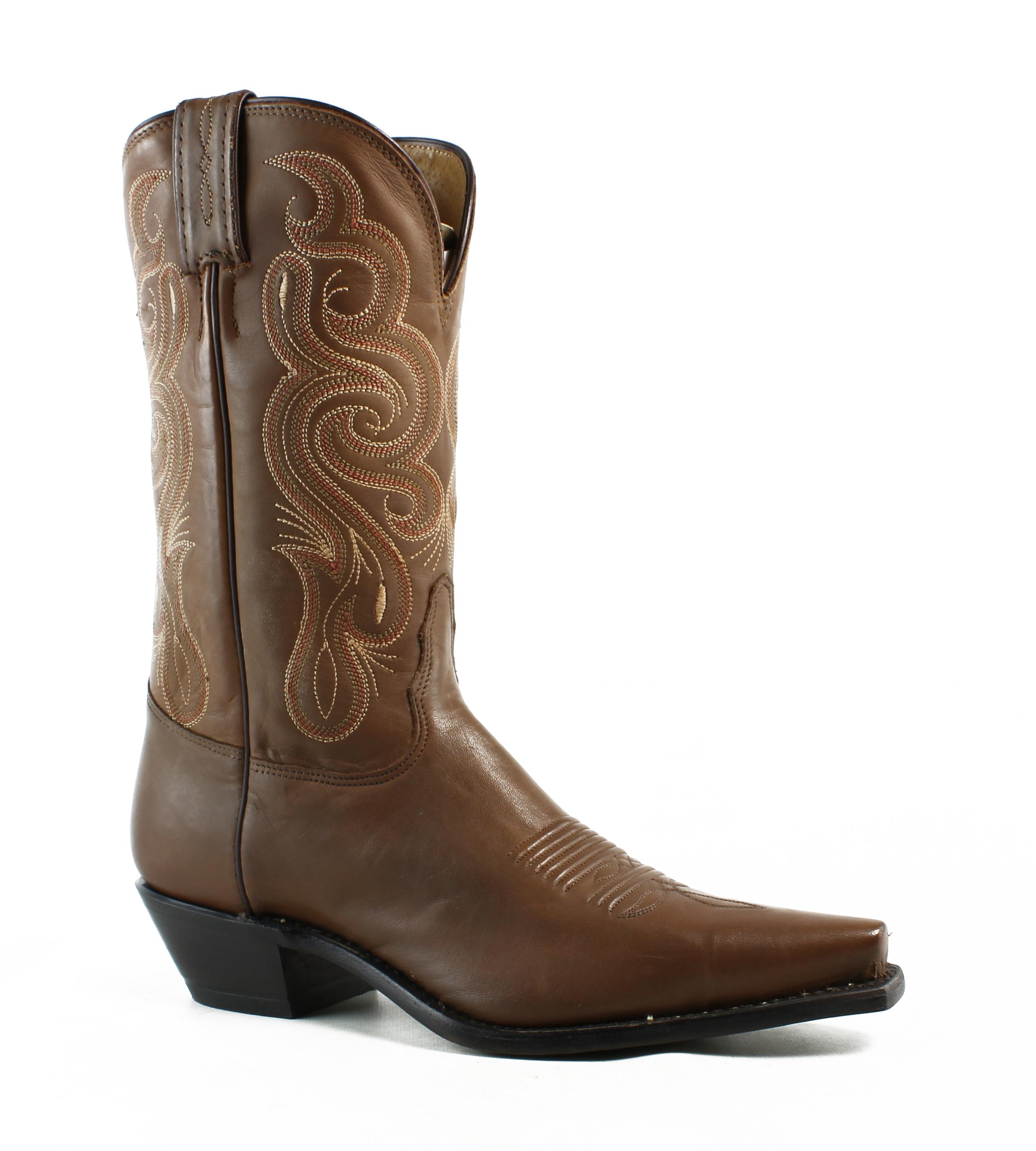 Tony Lama Stallion Pointed Toe Leather Western Boot by Tony Lama