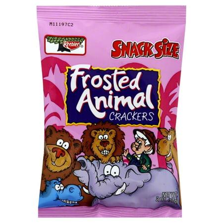 Kelloggs Keebler Snack Size Frosted Animal Crackers, 2 oz (Barnum's Animal Crackers Bulk)