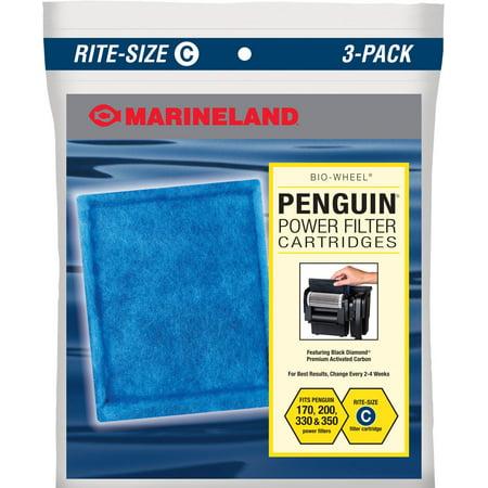 Marineland Penguin Bio-Wheel Power Filter Aquarium Filter Cartridges, Rite-Size C, 3-pack