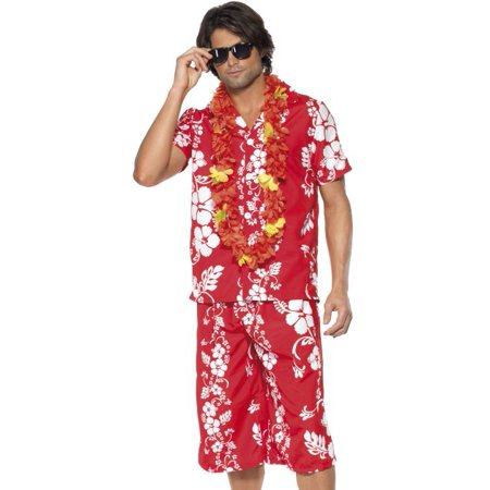 Smiffys Adult Hawaiian Luau Party Tourist Mens Halloween Costume Medium for $<!---->