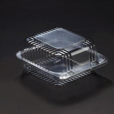 5 x 5 x 2 Plastic Clear Hinged Containers/Set of 500