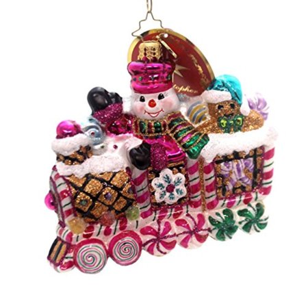 Christopher Radko Sweet Ride Candy & Sweets Transportation Christmas Ornament - Retired Radko Halloween Ornaments