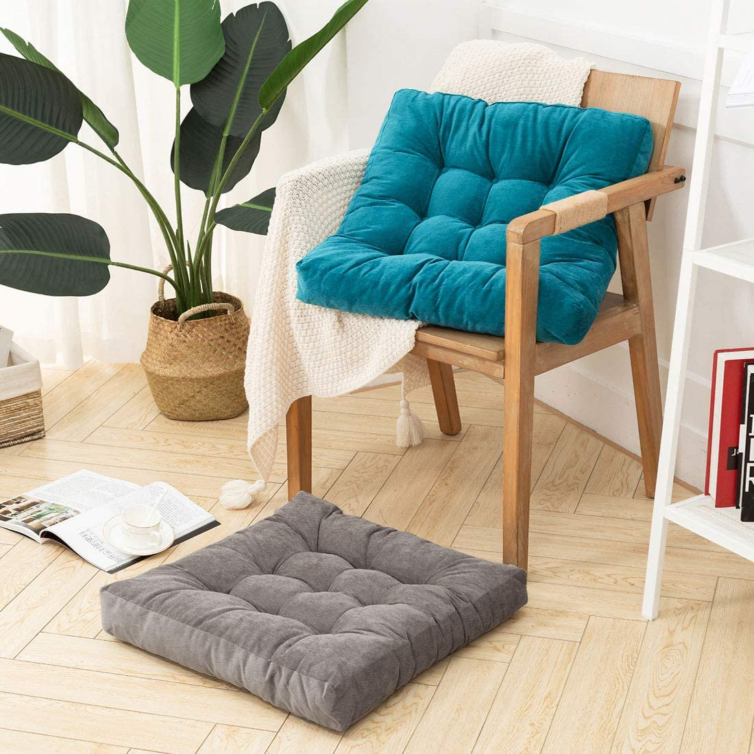 Floor Pillow Square Meditation Pillow For Seating On Floor Solid Thick Tufted Seat Cushion Meditation Cushion For Yoga Living Room Sofa Balcony Outdoor Coffee 22x22 Inch Walmart Canada