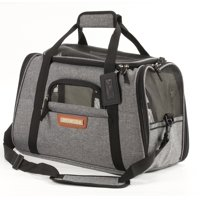 4134c3b04c Product Image Premium Pet Travel Carrier for Small Dogs and Cats (Charcoal  Grey)