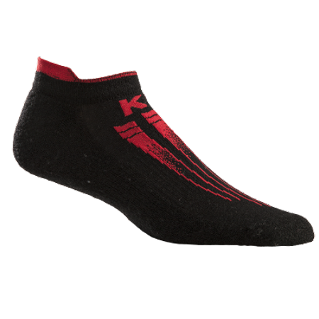 KentWool Mens KW Pro Light Golf Sock Large / Black / Red