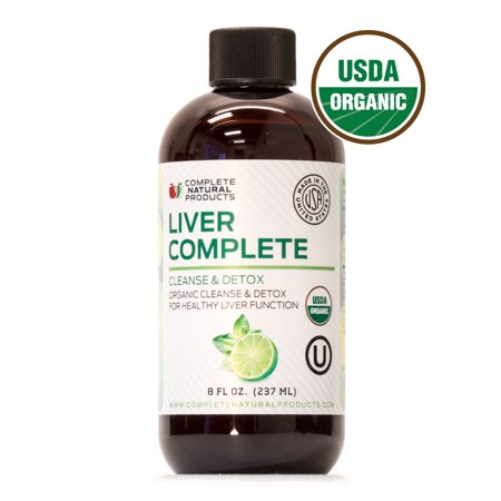 Liver Complete - Organic Liquid Liver Cleanse Detox Supplement for High Enzymes, Fatty Liver, & the Gallbladder