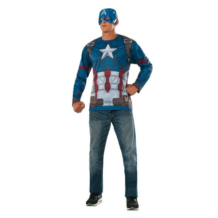 Rubie's Captain America Civil War Captain America Costume Top and Mask Multi One Size (Captain America Girl Mask)