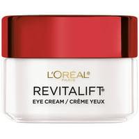 L'Oreal Paris Anti-Wrinkle + Firming Eye Cream, Fragrance Free, Revitalift, 0.5 oz.