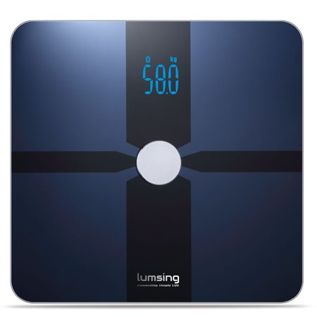 Bluetooth Body Fat Scale  Lumsing Smart Body Fat Monitor 400Lb  Measures Body Weight  Body Water  Body Fat  Bmi  Bmr Kcal   Muscle Mass  Bone Mass And Visceral Fat With App For Ios  Android Devices
