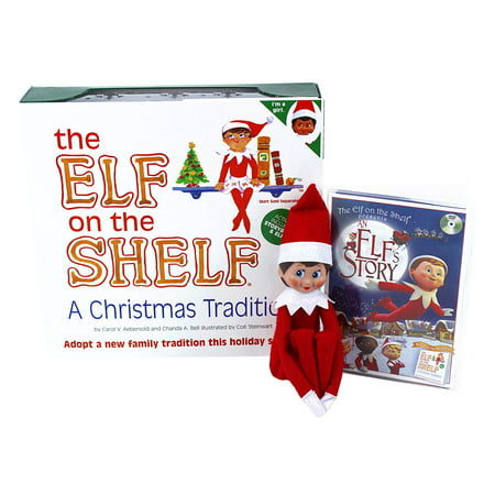 The Elf on the Shelf A Christmas Tradition (Blue-Eyed Girl) with DVD - Elf On A Shelf Adults
