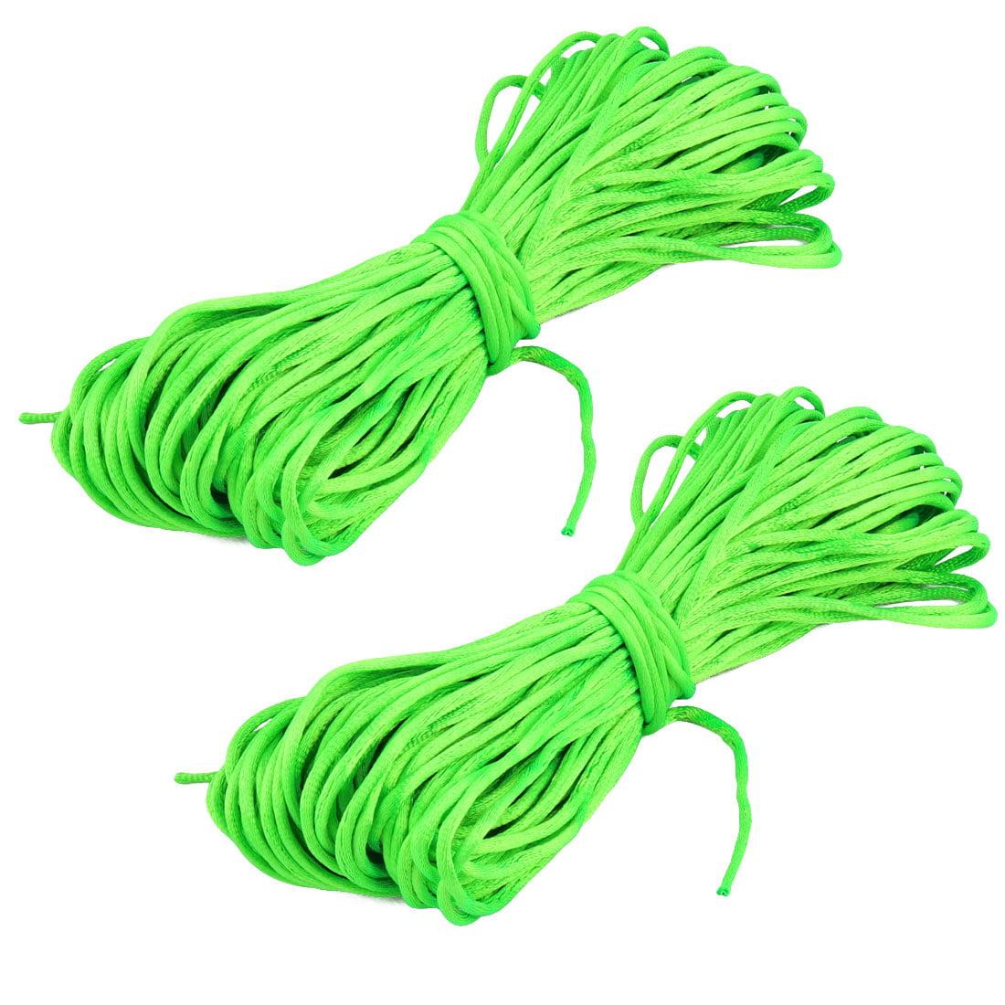 Nylon DIY Chinese Knot Bracelet Jewelry Beading Cord Light Green 22 Yards 2pcs