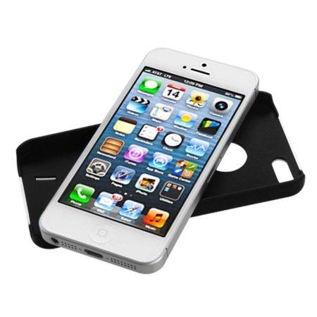 Insten White/Black Rubber Wave Back Cover Case For Apple iPhone SE 5 5G - image 3 of 4