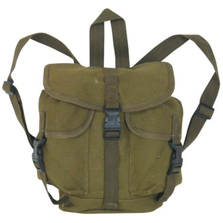 fox outdoor products german style alpine rucksack, olive drab, 10 1/2 x 9 -