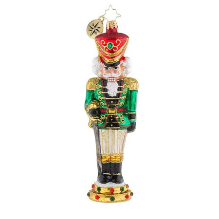 Christopher Radko Attention Nutcracker Christmas Ornament - Retired Radko Halloween Ornaments