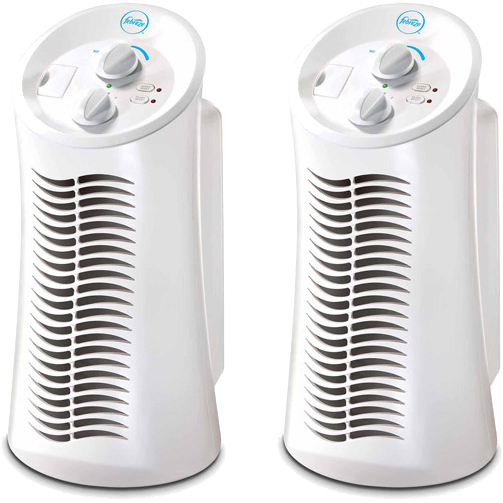 Febreze Mini Tower Air Purifier, White, FHT180W, 2 pack