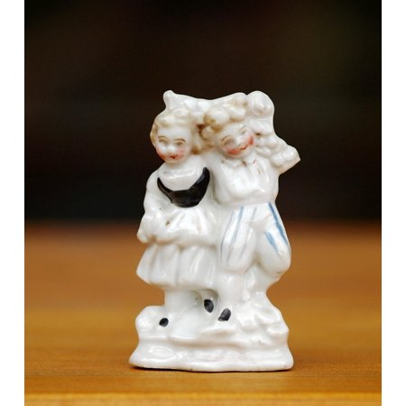 Couple Antique (Laminated Poster Couple Fig Porcelain Figurine Porcelain Antique Poster Print 11 x 17)