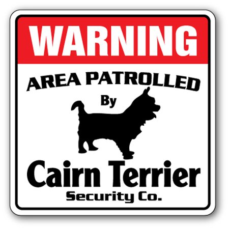 Cairn Terrier Security [3 Pack] of Vinyl Decal Stickers | Indoor/Outdoor | Funny decoration for Laptop, Car, Garage , Bedroom, Offices | SignMission