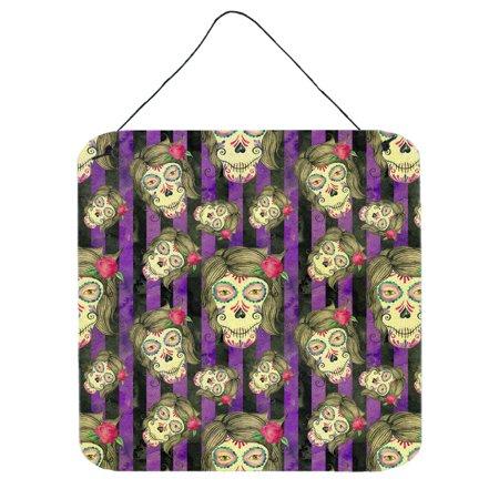 Day Of The Dead Halloween Wallpaper (Watecolor Day of the Dead Halloween Wall or Door Hanging Prints)