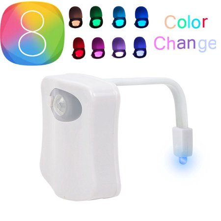 2PC Toilet Light Nightlight w/ Motion Activated Sensor Glow In The Dark 8 Colors - Glow In Dark Light