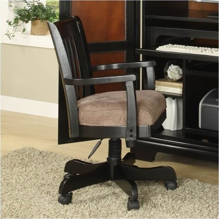 Beaumont lane desk office chair in antique black for Q furniture beaumont