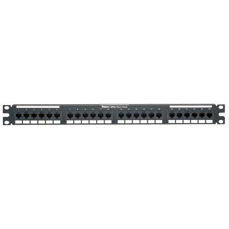 Panduit 24 Port Cat5e Network Patch Panel - 24 x RJ-45 - 24 Port(s) - 24 x RJ-45 - 24 x RJ-11 - 1U High - Rack-mountable
