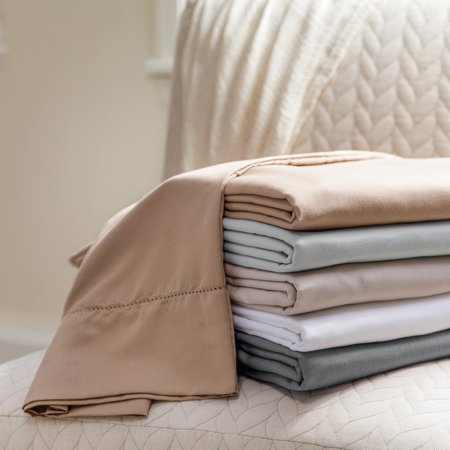 Colonial White Cabinets - Colonial Textiles Symphony 4 Piece 1200 Thread Count Sheet Set