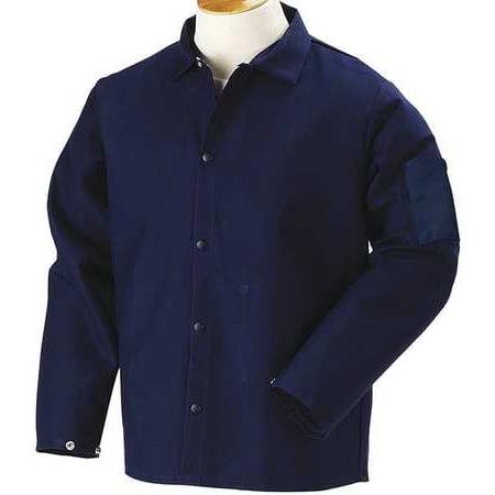 BLACK STALLION Flame Resistant Jacket, Navy, Cotton, 3XL, FN9-30C - Flame Resistant Wear