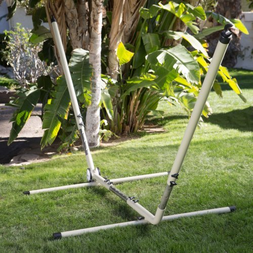 Island Bay Adjustable Hammock Stand with Wheels