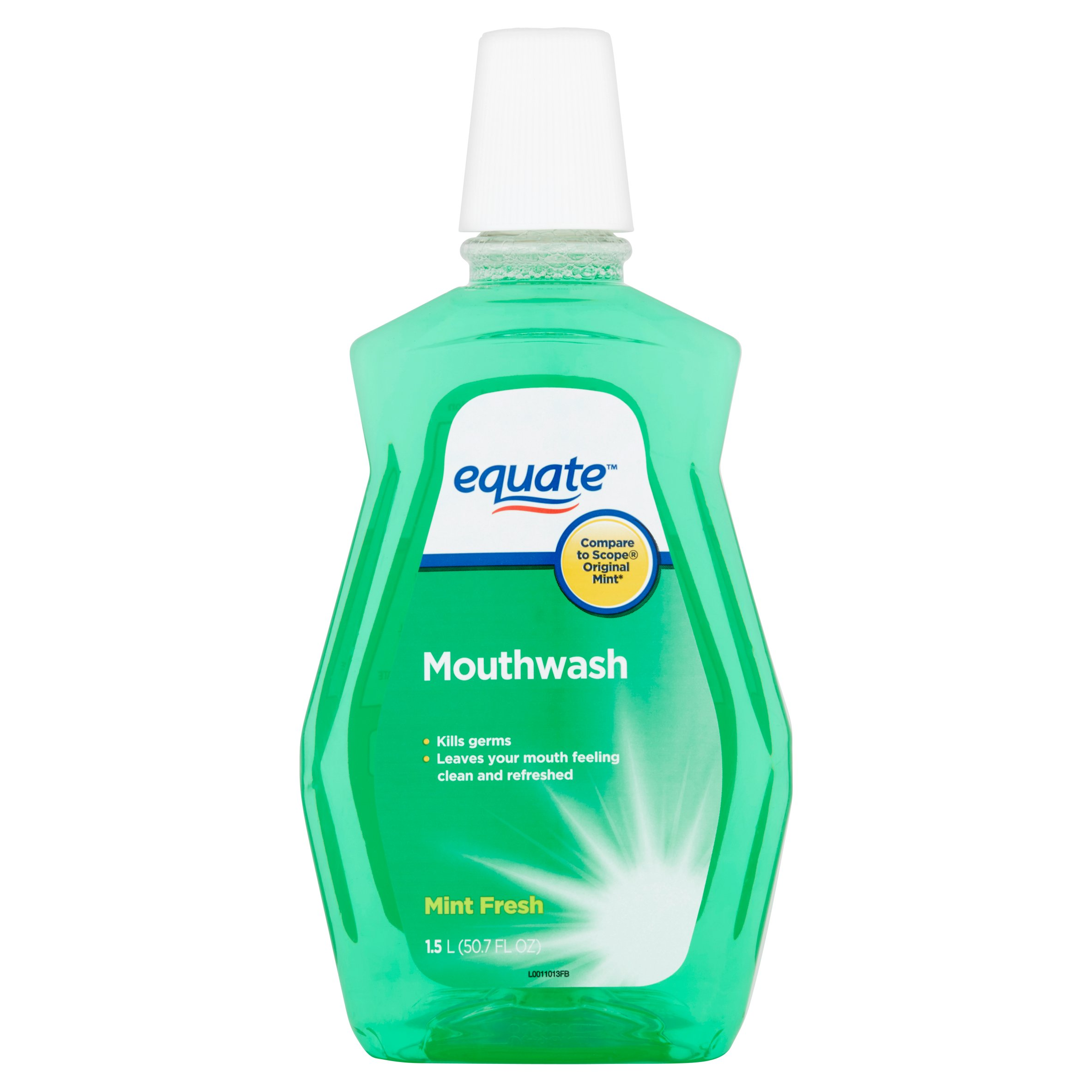 Equate Green Mint Mouthwash, 50.7 Oz
