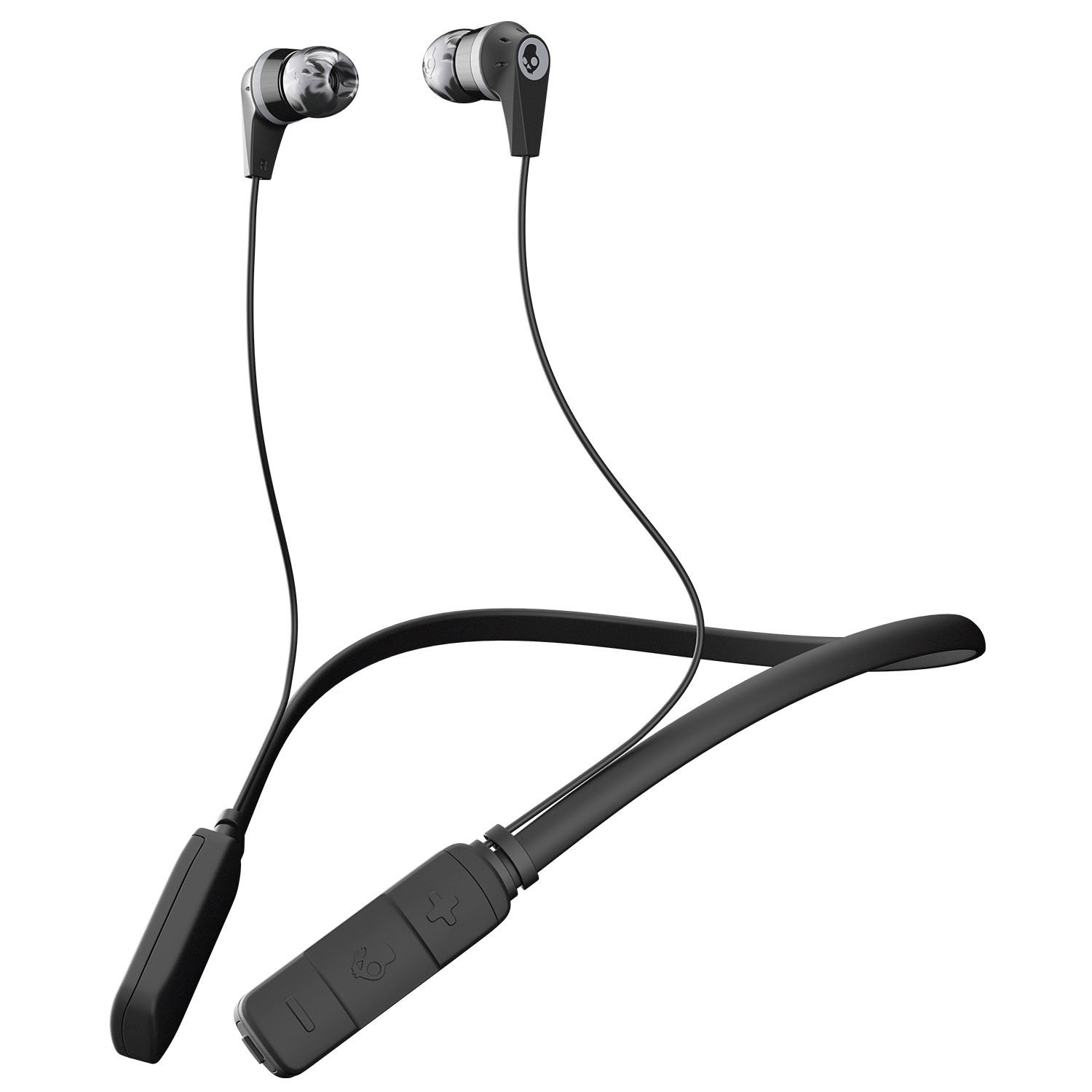 Skullcandy Ink'd Bluetooth Earbuds Black/Gray/Gray for All Bluetooth Devices