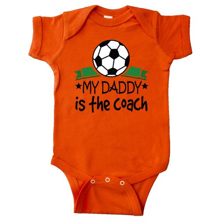 Soccer My Daddy is the Coach Infant Creeper