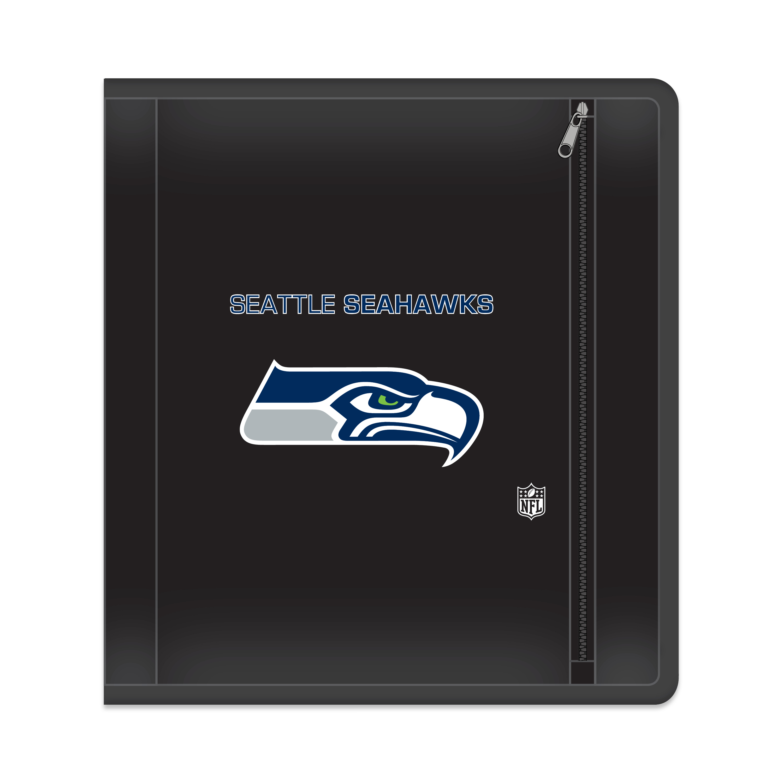 "NFL Seattle Seahawks Zippered 3 Ring Binder, 250 Sheet Capacity, 1.625"" Metal Rings"