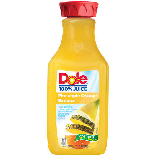Dole 100% Pineapple Orange Banana Juice, 59 fl oz