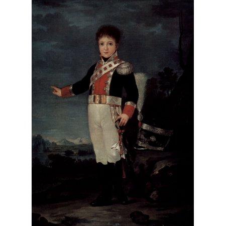 Framed Art for Your Wall Goya y Lucientes, Francisco de - Don Sebastian Gabriel de Borbon y Braganza 10 x 13
