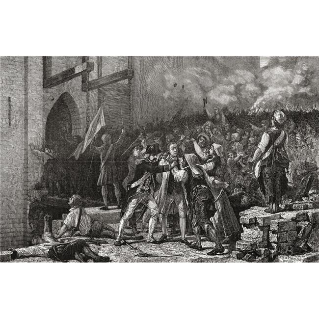 Posterazzi DPI1858112LARGE The Taking of The Bastille 14th July 1789 Engraved by Pannemaker-Ligny After De Poster Print, Large - 38 x 24 - image 1 de 1