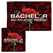 Bachelor Rose Petals Face Hand Towel Combo White