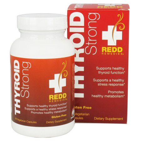 Redd Remedies - Thyroid Strong, Natural Support to Promote Healthy Mood and Metabolism, 60