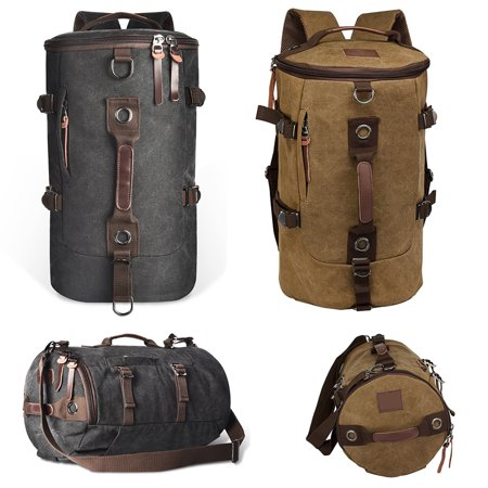 Gym Duffle Canvas Backpack Rucksack Laptop Shoulder Travel Hiking Camping Bags