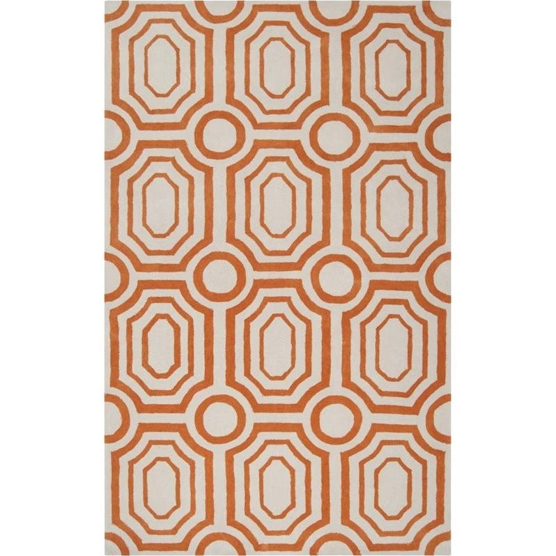 Surya Hudson Park 8' x 10' Hand Tufted Rug in Orange