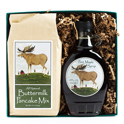 Vermont Maple Syrup and Pancake Mix Gift Box (2 pound)