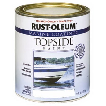 Rust Oleum 206999 Marine Topside Paint White 1 Quart Ideal For Use On Fibergl Wood Or Metal Surfaces Above The Waterline By Rustoleum