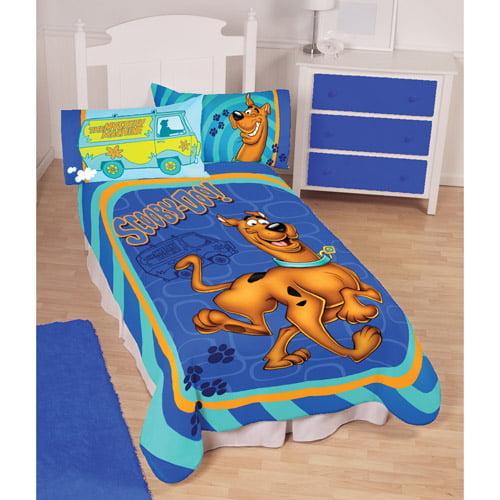 Scooby Doo Twin Fleece Polyester Blanket for Kids - Walmart.com