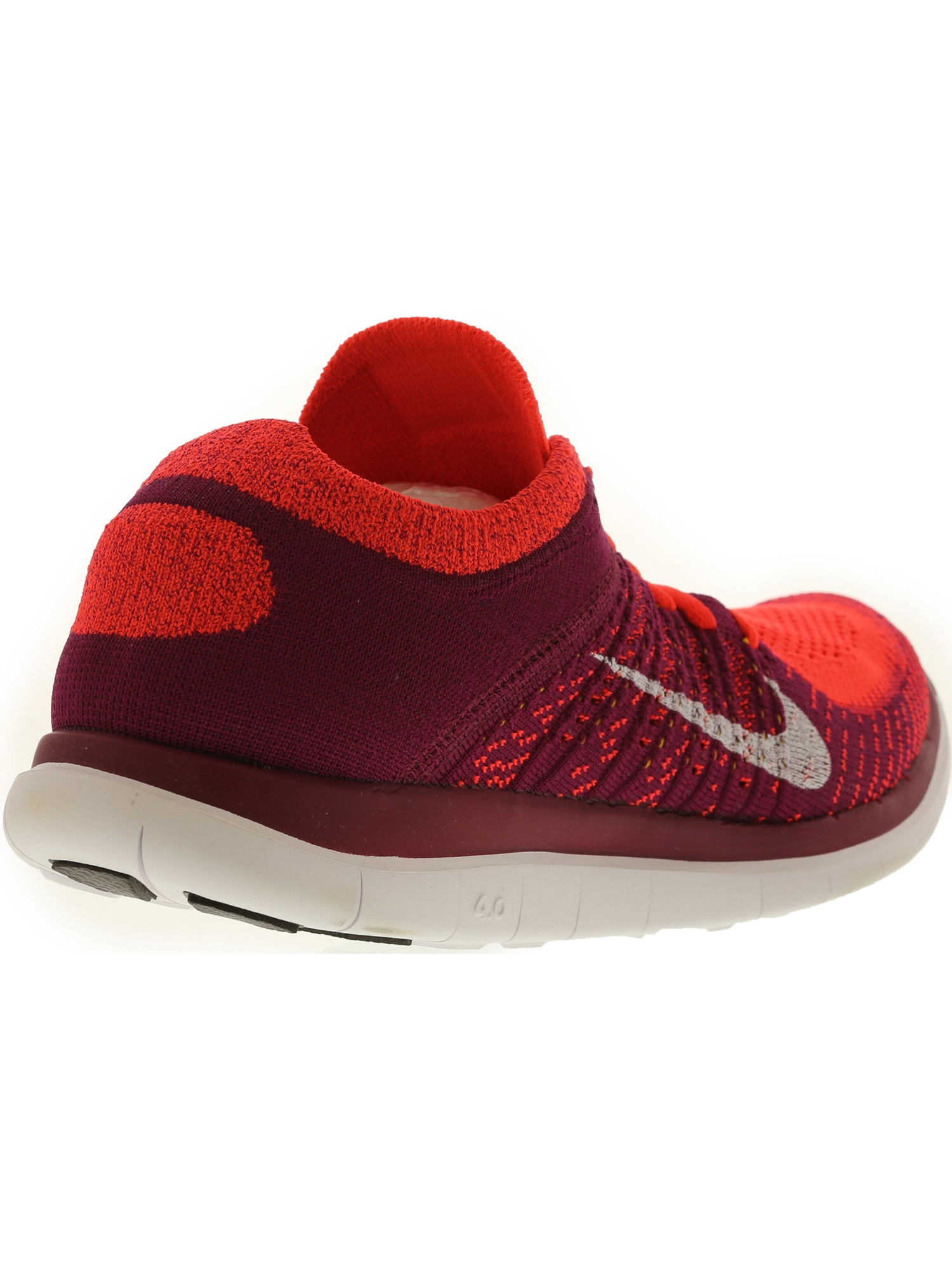 cce65c0a864b4 ... switzerland nike womens free flyknit 4.0 bright crimson white raspberry  red ankle high fabric running shoe