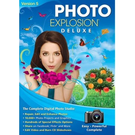 Nova 727298423617 Photo Explosion Deluxe Version 5 - Face Filter 2 Editing Software - PhotoStitcher - 10,000+ Photo Projects - Halloween Photo Editing Software