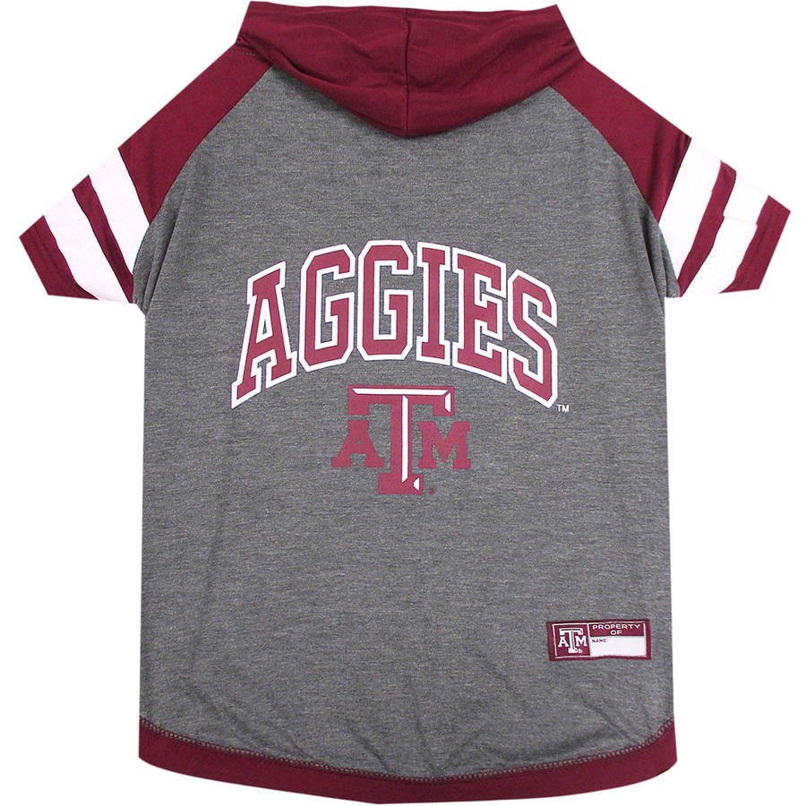 Pets First College Texas A&M Aggies Pet Hoody Tee Shirt, 4 Sizes Available