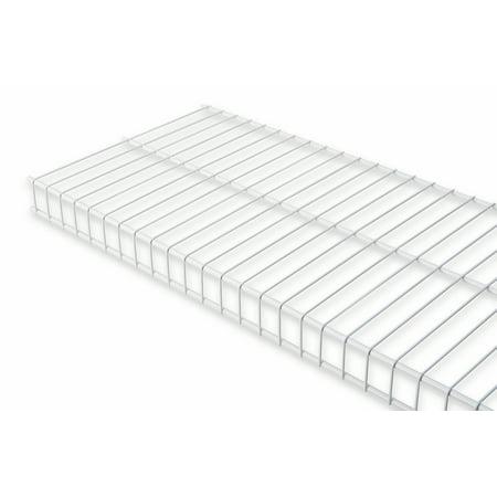 """Rubbermaid 5210RM 2' X 12"""" White Linen Shelf Kit"""